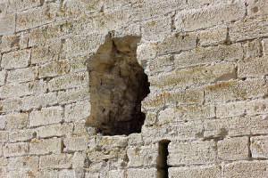 Textur. Loch in der Wand